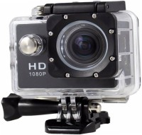 ALONZO Full HD 1080p 12mp Ultra HD 1080P Sports Action Camera with Rechargeable Batteries up to 32GB SD Card Compatible with Android, iOS, Tablet, PC Sports and Action Camera(Black, 12 MP)