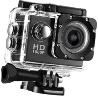 ALONZO Full HD 1080p 12mp action camera Ultra HD 1080P Rechargeable Batteries Sports and Action Camera(Black, 12 MP)