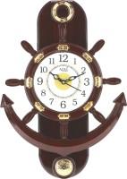 Altra Quartz Analog 37.5 cm X 25.4 cm Wall Clock(Brown, With Glass)