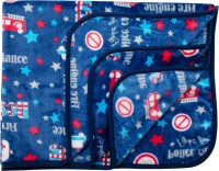 LuvLap Printed Crib AC Blanket(Polyester, Blue)