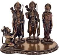 Collectible India Bronze Finish Lord Ram Darbar Statue Religious Idols Ram Sita Laxman Hanuman Murti Puja Gifts Showpiece Sculpture Decorative Showpiece  -  24.13 cm(Polyresin, Brown)