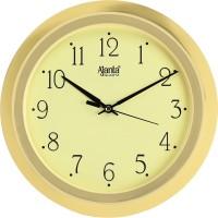 Ajanta Analog 26 cm X 26 cm Wall Clock(Gold, With Glass)