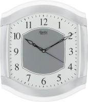 Ajanta Analog 30 cm X 26 cm Wall Clock(White, With Glass)