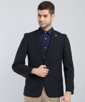 Ben Sherman Self Design Single Breasted Casual Men Blazer(Blue)
