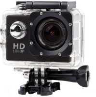 "ROBMOB Action Shot 1080P 12MP 2.0"" LCD Touch Screen Sports and Action Camera  (Black 12 MP) Sports and Action Camera(Black, 12 MP)"