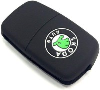 Trunkin 3 button big logo silicone key cover for octavia/fabia/rapid/superb/yeti smart Car Key Cover