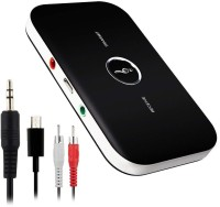 Shrine Tech Bluetooth 4.1 Transmitter Receiver Portable 2-in-1 Wireless Audio Adapter 3.5mm Stereo Output for Headphones, TV, Computer/PC, MP3 / MP4 Player, Car Stereos MP3 Player(Black, 0 Display)
