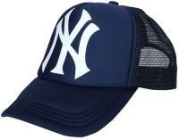 ODDEVEN Printed Blue NY Printed Half Net Caps, Trucker Cap For Boys And Girls Caps Cap