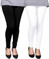 PI World Churidar  Legging(White, Black, Solid)