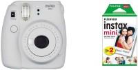 FUJIFILM Instax Instax Mini 9 Joy Box with Instant Camera with Instax Mini Picture Format Film (20 Shots) (Smokey White) Instant Camera(White)