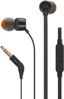 JBL T160 Wired Headset with Mic(Black, In the Ear)