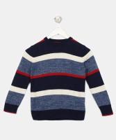 GAP Striped Round Neck Casual Boys Multicolor Sweater