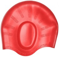 Aurion Swimming Cap with Ear Protection Swimming Cap(Red, Pack of 1)