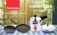 CRYSTAL Kitchen Combi Cookware Set(Aluminium, 5 - Piece)