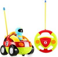 Fancy Cartoon Racing Radio Control Toy for Toddlers (Multicolor)(Multicolor)