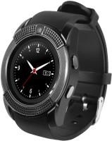Ecandy Bluetooth Smartwatch Sim+Tf & Fitness Smartwatch(Black Strap, M)