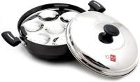 KCL Hard Anodized Multipurpose Idli Steamer with Lid Induction & Standard Idli Maker(6 Plates , 14 Idlis )