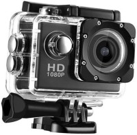 LIZZIE Sports Camera HD Waterproof DV Camcorder 16MP 170 Degree Wide Angle Sports and Action Camera(Black, 16 MP)