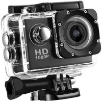 LIZZIE Sport Action Camera /30fps 16MP Action Camera with EIS, Ultra HD 30m Waterproof Camera with Remote Control, 170 Degree Wide Angle Sports and Action Camera(Black, 16 MP)
