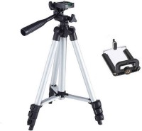 GROSTAR Portable tripod||360 degree tripod|| Foldable triopod|| Camera stand|| Mobile Tripod|| Camcorder tripod|| Camera mount|| Extendable tripod||Three-Dimensional Head & Quick Release Plate|| Assorted color|| Compatible all smart phones Tripod Tripod(Silver, Black, Supports Up to 3200 g)