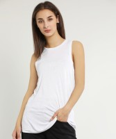GAP Casual Sleeveless Solid Women White Top