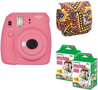 Fujifilm Mini 9 Flamingo Pink With Bohemia Case and 40 Shots Instant Camera(Pink)