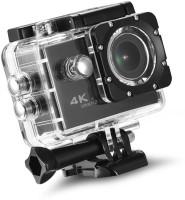 LIZZIE 4K Sports Action Camera Ultra HD Waterproof DV Camcorder 16MP 170 Degree Wide Angle Sports and Action Camera(Black, 16 MP)