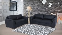 Muebles Casa Thar Leatherette 3 + 2 Black Sofa Set