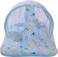RBC RIYA R blugirfbed baby mosquito net bed crib(Fabric, Blue)