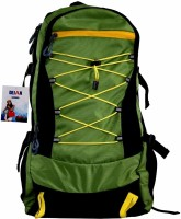 Dejan Polyester Travel Backpack for Hiking Camping Trekking Rucksack 60 L Backpack(Green, Black)