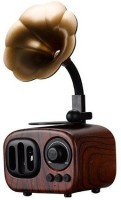 TechGear Retro Bluetooth Speaker Gramophone Shape 10 W Bluetooth Home Theatre(DARK BROWN, Stereo Channel)