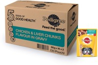 Pedigree Adult Wet Dog Food, Chicken & Liver...