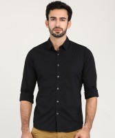 Pepe Jeans Men Solid Casual Black Shirt