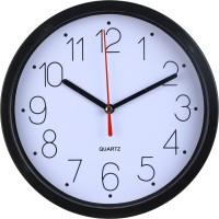 Adonai Analog 20 cm X 20 cm Wall Clock(Black, With Glass)