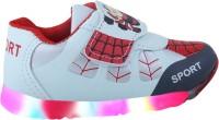 LNG Lifestyle Boys Velcro Running Shoes(White)