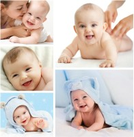 Set of 5 Very Cute Baby posters | HD Poster for Room Decor | Poster for Pregnant women | New Born Baby Poster (Gloss Laminated) Paper Print(12 inch X 18 inch, Rolled)