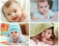 Set of 4 Very Cute Baby posters | HD Poster for Room Decor | Poster for Pregnant women | New Born Baby Poster (Gloss Laminated) Paper Print(12 inch X 18 inch, Rolled)