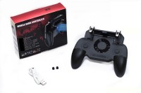 ET BAZAR PUBG Gaming Joystick and Trigger for Mobile with emergency power support of 2000 mAh with cooling fan with PUBG(Black)