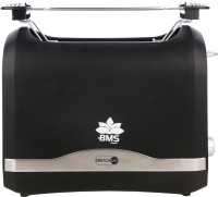 BMS Lifestyle SWITCH ON COOL TOUCH Toasters with 2 Extra Wide Slots 6 Browning Dials and Removable Crumb Tray Warming Rack for Breakfast Bread Muffins Ovens Toasters with Defrost Reheat Cancel Function 870 W Pop Up Toaster(Black)
