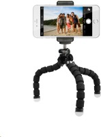 eDUST Soft, Portable, Compact, Flexible, Light Weight Tripod Stand Kit For Universal Mobile phones Tripod(Black and White, Supports Up to 500 g)
