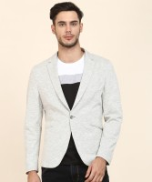 V DOT BY VAN HEUSEN Self Design Single Breasted Casual Men Blazer(Grey)