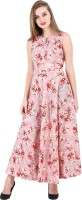 16 Always Women Fit and Flare Pink, Red, White Dress