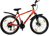 Atlas Ultimate Code Front Suspension Dual Disc Brake Bike For Adults Red 26 T Mountain Cycle(21 Gear, Multicolor)