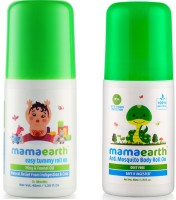 Mamaearth Easy baby Tummy Roll On for Digestion & Colic Relief with Hing & Fennel 40Ml änd Natural Anti Mosquito Body Roll On, 40ml(Multicolor)