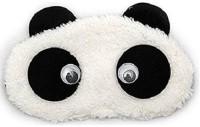 AweStuffs Rolling Eyes Panda Sleeping Nap Eye Shade Cartoon Blindfold Sleep Eyes Cover Travel Rest Patch Sleep Plush Mask Eye Shade(White)