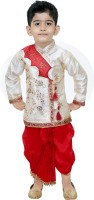 SmartRAHO Boy's Festive & Party Kurta and Dhoti Pant Set(Red Pack of 1)