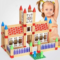 Pacific Toys DIY Wooden Master Building Construction Blocks Early Education Institution Toy(Multicolor)