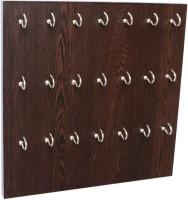 Captiver 21 Hook Key Holder Box Wenge/Wall Mounted Keychain Rack Cabinate Storage Stand Wood, Steel Key Holder(21 Hooks, Black)
