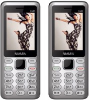 Niamia CAD 2 Combo of Two Mobiles(Silver)