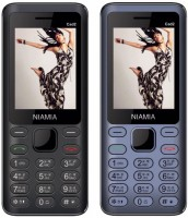 Niamia CAD 2 Combo of Two Mobiles(Black&Blue)